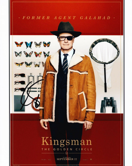 Colin Firth Signed 10X8 PHOTO Kingsman: The Golden Circle AFTAL COA (5250)
