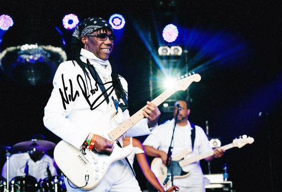 Nile Rodgers SIGNED 12X8 Photo AFTAL COA (A2)