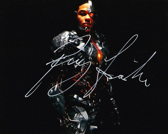 Ray Fisher Authentic Hand-Signed JUSTICE LEAGUE Cyborg 10x8 Photo AFTAL (7275)