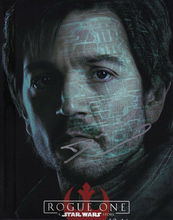 Diego Luna Signed 10X8 Photo Rogue One: A STAR WARS Story AFTAL COA (7255)