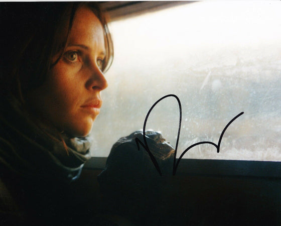 Felicity Jones Signed 10X8 Photo Rogue One: A STAR WARS Story AFTAL COA (7425)