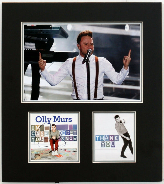 Olly Murs Signed & Framed CD Cover Genuine SIgnature AFTAL COA