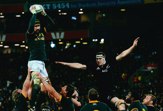 Victor Matfield Signed 12X8 Photo SPRINGBOKS South Africa AFTAL COA (2232)