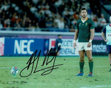 Handre Pollard Signed 10X8 2019 Rugby World Cup South Africa AFTAL COA (J)
