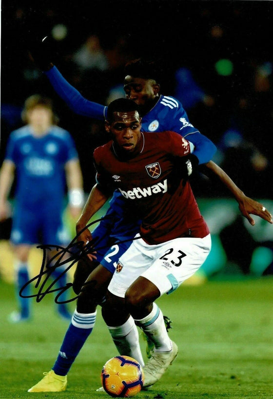 Issa Diop SIGNED 10X8 Photo West Ham United F.C. AFTAL COA (1855)