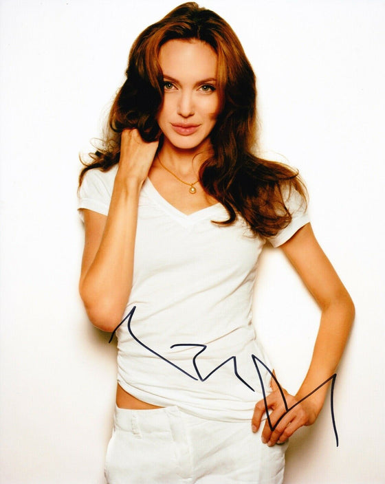 Angelina Jolie SIGNED 10X8 PHOTO SEXY IMAGE AFTAL COA (B)
