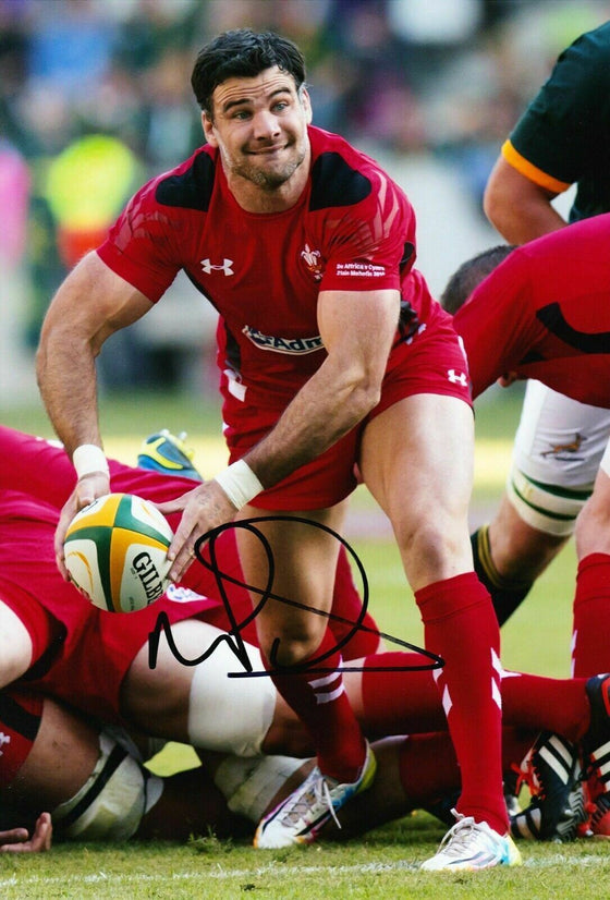 Mike Phillips Signed 12X8 Photo Lions & WALES Rugby AFTAL COA (C)