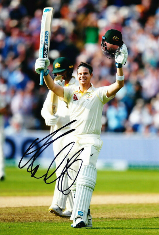 Steven SMITH Signed 12X8 Photo 2019 ASHES Century AFTAL COA (2672)