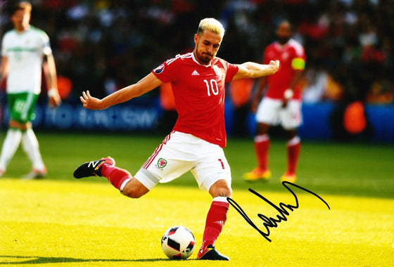 Aaron Ramsey Signed 12X8 Photo Wales Footballing Legend AFTAL COA (1469)