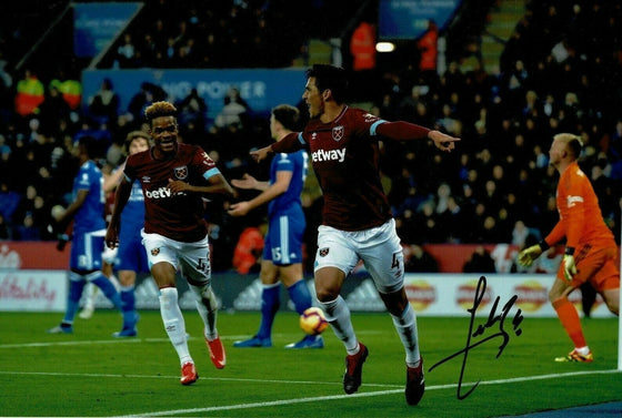 Fabian Balbuena SIGNED 10X8 Photo West Ham United F.C. AFTAL COA (9080)