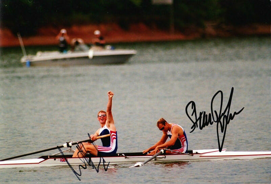 Steve Redgrave & Matthew Pinsent Signed 12X8 Photo ATLANTA 1996 AFTAL COA (B)