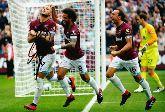 Marko Arnautovic SIGNED 10X8 Photo West Ham United F.C. AFTAL COA (1409)