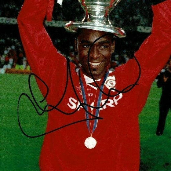 Andy Cole Signed 12X8 Photo Manchester United FC AFTAL COA (1529)