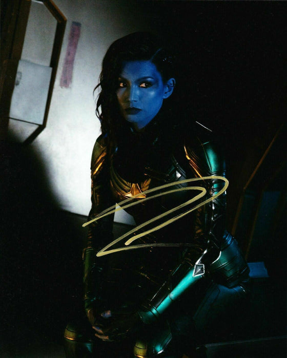Gemma Chan Signed 10X8 Photo Captain Marvel AFTAL COA (5353)