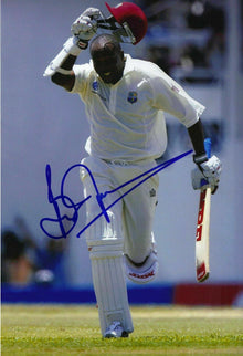 Brian Lara Signed 12X8 Photo ICONIC West Indies CRICKETER AFTAL COA (2657)