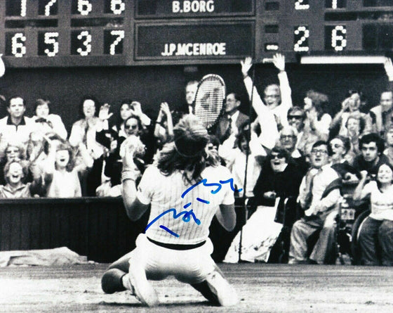 Bjorn Borg Signed 10X8 Photo Genuine Autograph Wimbledon AFTAL COA (F)