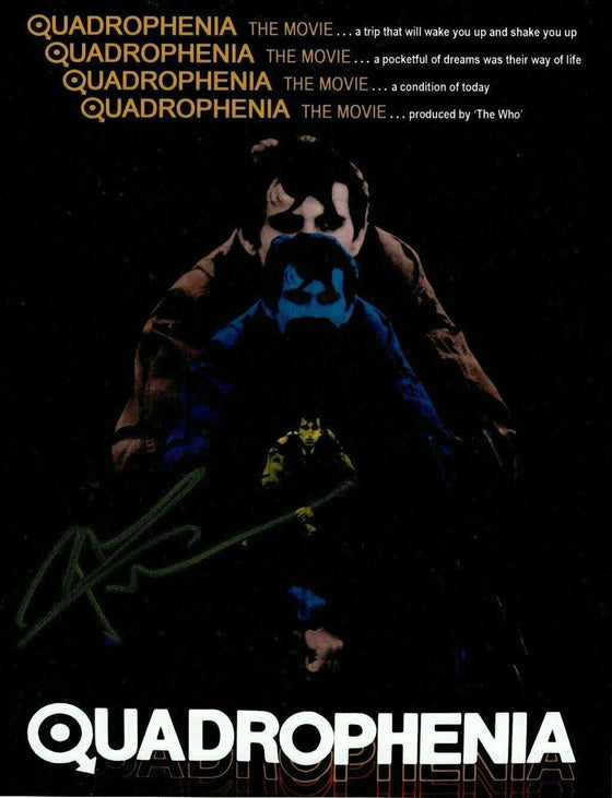 Pete Townshend SIGNED 11X14 PHOTO Quadrophenia Movie Poster AFTAL COA (A)