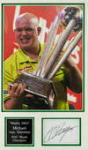 Michael Van Gerwen Signed & Framed Display Autograph Darts Memorabilia AFTAL COA