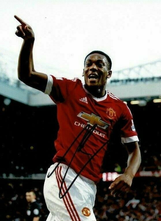 Anthony Martial Genuine Signed 10X8 Photo MANCHESTER UNITED AFTAL COA (1106)