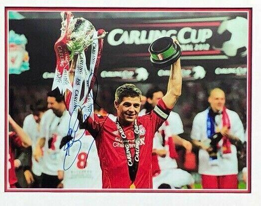 Steven Gerrard Signed & Framed Photo Liverpool FC AFTAL COA (B)