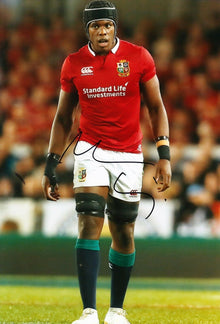 Maro Itoje Signed 12X8 England SARACENS & LIONS RUGBY PLAYER AFTAL COA (2102)