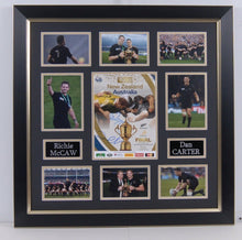 Dan Carter & Richie McCaw SIGNED & Framed RUGBY WORLD CUP PROGRAMME (FTO)