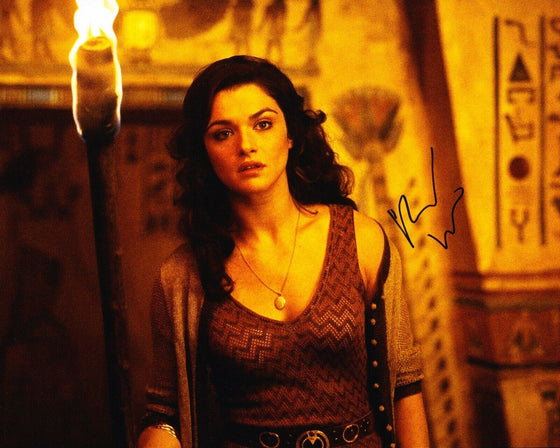 Rachel Weisz SIGNED 10X8 Photo The Mummy SEXY IMAGE AFTAL COA (B)