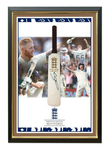 Ben Stokes Signed & Framed Mini Bat England CRICKET WORLD CUP 2019 AFTAL COA (A)