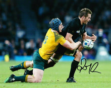 Richie McCAW Signed 10X8 Photo ALL BLACKS 2015 RUGBY WORLD CUP AFTAL COA (2384)