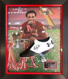 Trent Alexander-Arnold Signed & Framed Football Boot Liverpool F.C. AFTAL COA (R
