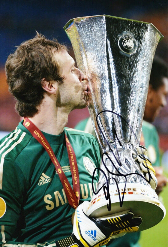 Petr Cech Signed 12X8 Chelsea F.C. Photo AFTAL COA (1483)