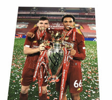 Trent Alexander-Arnold Signed 11X14 Premier League Trophy Photo AFTAL COA (B)