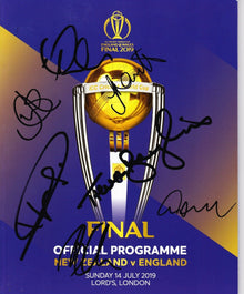 England CRICKET SIGNED By 7 Players 2019 World Cup FINAL Programme AFTAL COA (B)