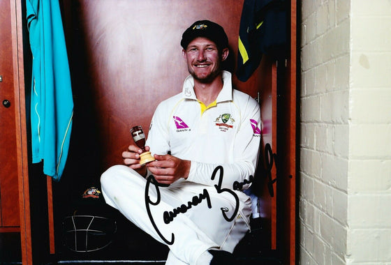 Cameron Bancroft Signed 12X8 Photo Cricket Australia AFTAL COA (2653)