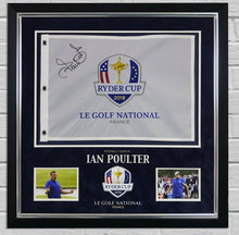 Ian Poulter SIGNED & Framed Ryder Cup PIN FLAG 2018 With PROOF AFTAL COA (FTOMM