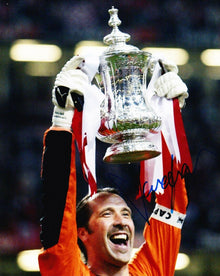 DAVID SEAMAN Signed 10X8 Photo Arsenal AFTAL COA (1271)