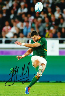 Handre Pollard Signed 12X8 Photo 2019 Rugby World Cup South Africa AFTAL COA (A)