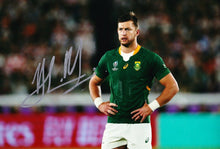 Handre Pollard Signed 12X8 Photo 2019 Rugby World Cup South Africa AFTAL COA (H)