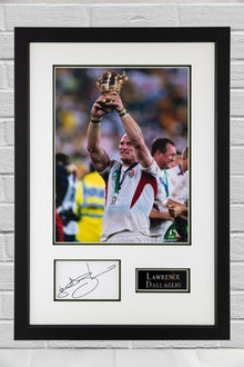 Lawrence Dallaglio FRAMED & Signed Photo Mount Display AUTOGRAPH ENGLAND RUGBY