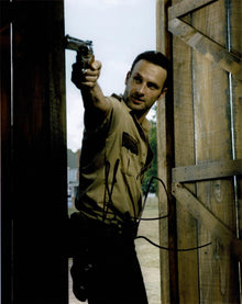 Andrew Lincoln Signed 10X8 Photo Walking Dead GENUINE SIGNATURE AFTAL COA (5525)