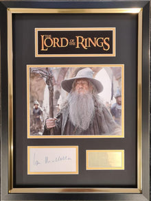 Ian McKellen Signed & FRAMED Photo Mount Display LORD OF THE RINGS AFTAL COA