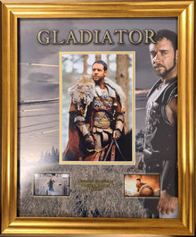 Russell Crowe Signed & Framed Gladiator Photo Mount Display AFTAL COA