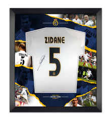 Zinedine Zidane Signed & Framed Real Madrid Shirt GENUINE AUTOGRAPH AFTAL COA
