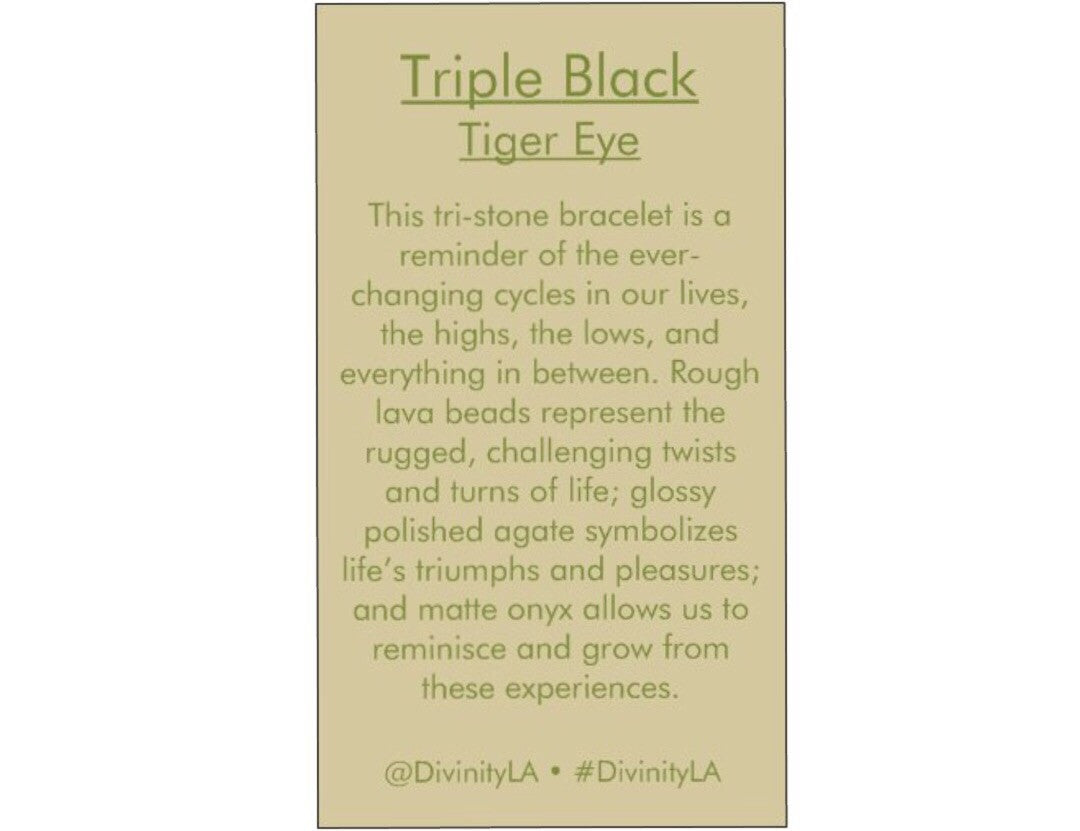 Triple Black Tiger Eye - DIVINITYLA