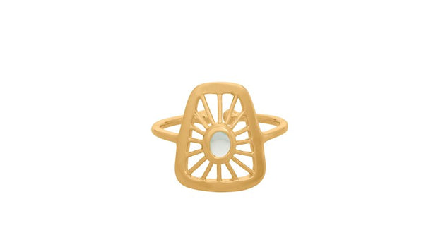Pernille Corydon Thilde ring small forgyldt - Nordic Jewellery House