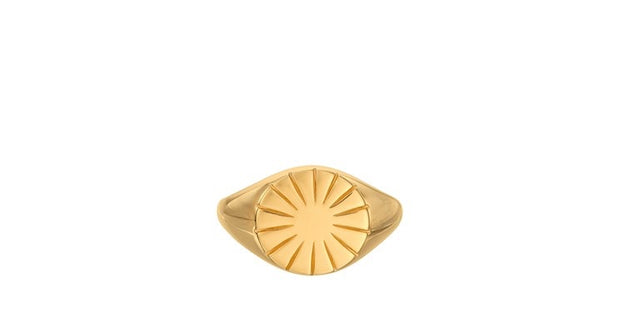 Pernille Corydon Era signet ring forgyldt - Nordic Jewellery House