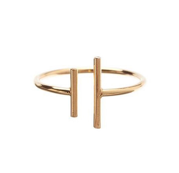 Vera Vega Number ll Ring- forgyldt - Nordic Jewellery House