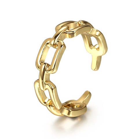 Gold Link Ring - Bettina's Collection