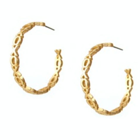XOXO Matte Gold or Silver Hoops - Bettina's Collection