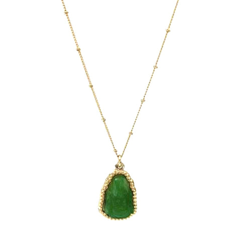 Jade Buddha Necklace - Bettina H. Designs